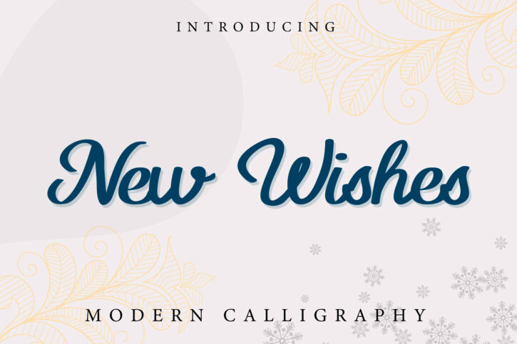 New wishes Script thumbnails New Wishes Modern Script
