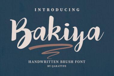 Bakiya preview pic 01 Script & Handwritten