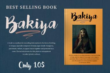 Bakiya preview pic 05 Bakiya | Handwritten Brush Font