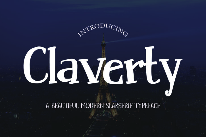 claverty preview 01 Claverty | a modern and neat slab serif font