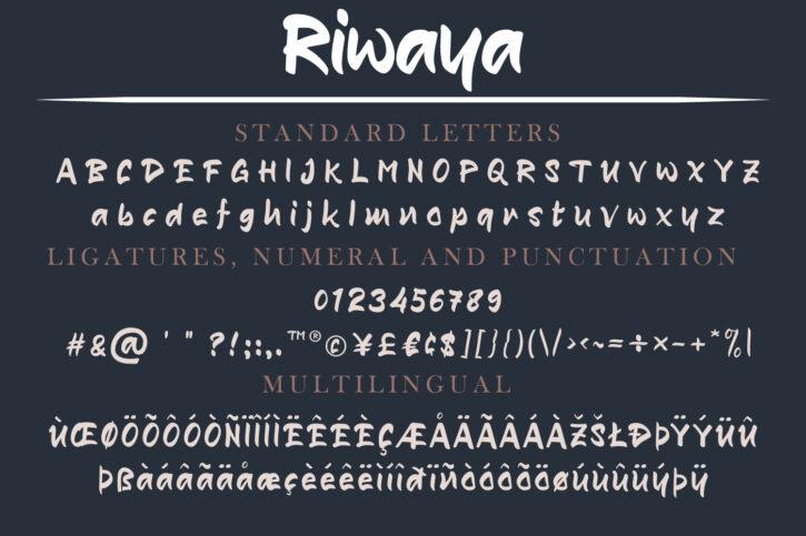 Riwaya Preview 02 Riwaya | A Handwritten Font