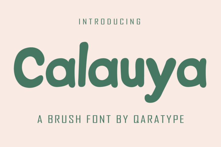 CalauyaPreview 01 Calauya | A Brush Style Font