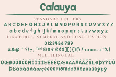 CalauyaPreview 02 Calauya | A Brush Style Font