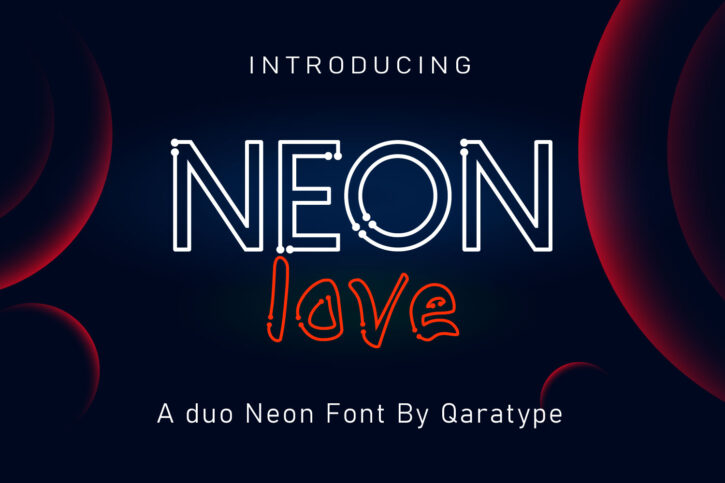 NEON love Preview 01 NEON love | Duo Display font