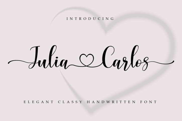 Julia Carlos Preview 01 Julia Carlos | A Handwritten Script