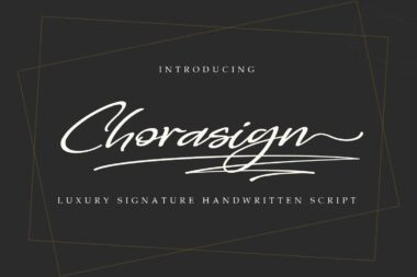Chorasign is a stylish modern calligraphy font with casual chic flair.