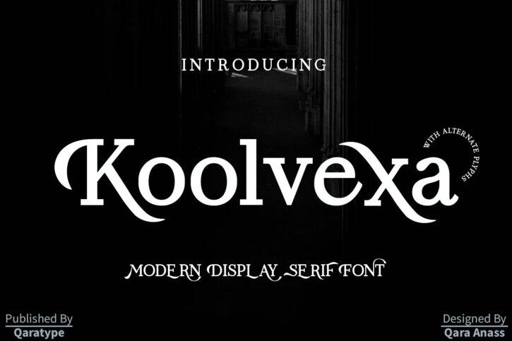 Koolvexa Preview 01 Koolvexa   a modern display serif font